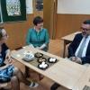 В гимназии прошла встреча с Фабрис Руссо и Жанн-Мари Пьетропаоли